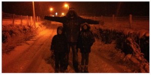 Tony Shepherd and family lost and carless in the snow